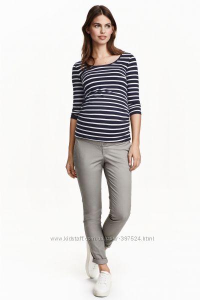 Летние брюки - чиносы H&M размер 44UK для будущей мамы