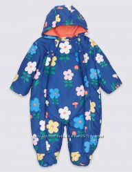 Теплый комбинезон Marks & Spenser с технологией   Stormwear  для девочк