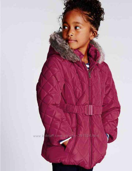 Тёплая куртка Marks & Spenser для девочки  на 1. 5-2года