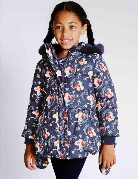 Тёплая куртка с варежками Marks & Spenser FROZEN для девочки  на 1. 5-2года