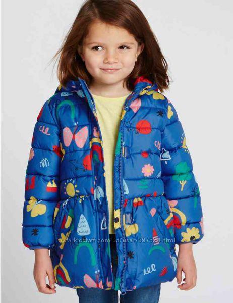 Демисезонная удлиненная куртка Marks & Spenser для девочки   на 1. 5-2года