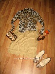 Шелк, рубашка хищной расцветки, на размер м