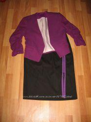 H&m оригинал. Стильная юбка-карандаш. Замки, р-р 40
