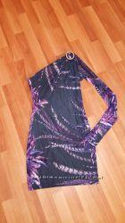 Платье по фигуре на одно плечо-just cavalli оригинал. 38 размер