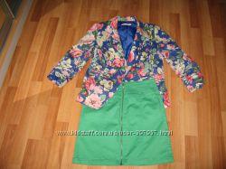 Итальянский хлопковый пиджак, р-р 38, М