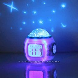Часы-будильник Music and Starry Sky calendar 1038 с проектором звездного не