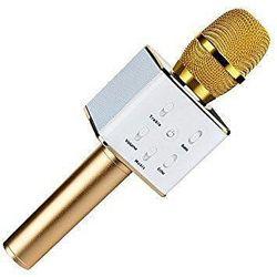Беспроводной микрофон караоке Bambi Q7 цвет золотистый