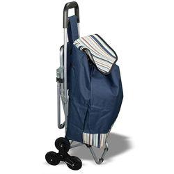 Сумка-тележка на колесах со стулом