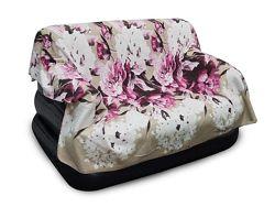 Плед флисовый Цветы 210180 см. - покрывало флисовое