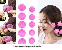 Бигуди силиконовые Hair Curler Грибочки набор 10 шт.