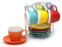 Наборы чашек и пиал на металлической подставке