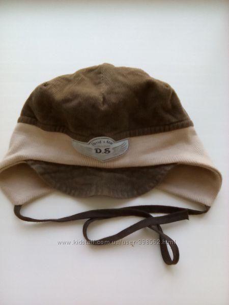 Демисезонная шапочка шапка на мальчика 44-46-48 см. весна осень