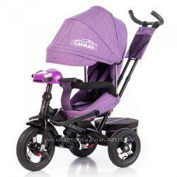 Детский трехколесный велосипед Tilly T-381 Eco лен Cayman