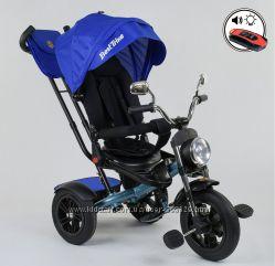 Детский трехколесный велосипед мотоцикл BEST TRIKE 4490 поворот, музыка
