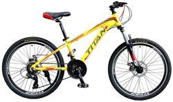Отличный подростковый велосипед 24 TITAN SCORPION DD