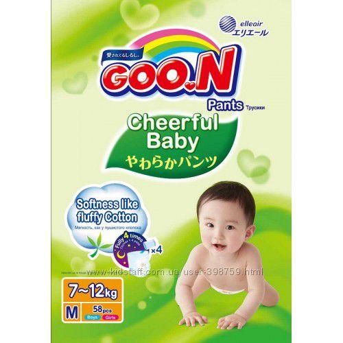 GooN Трусики-подгузники Cheerful Baby M 6-11 кг 54 шт унисекс  Гун.