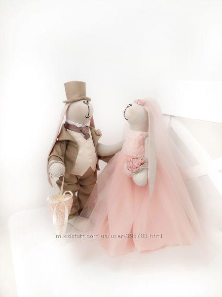 Пионовая свадьба подарок жених невеста молодожёны зайка девичник декор