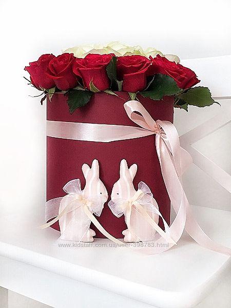 Зефирные Свадебные Зайки Тильда пасхальный зайчик кролик декор подарок