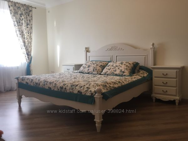 Красивенная кровать в стиле Прованс, натуральное дерево, бук, клен