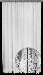 Красивая гипюр турецкая тюль Мадонна, 2018, 4 оттенка. Купон по низу