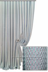 Красивая шторная ткань по типу рогожка ромбик на ткане. Турция. Оттенки.