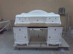 Очень красивый и большой письменный стол в стиле Прованс Дерево