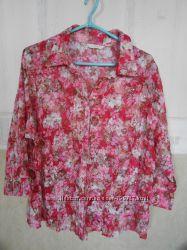 Натуральная блуза Marks&Spencer р. us20eur50. Сток