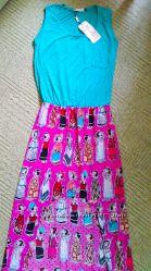 Оригинальное длинное платье, размер S-M