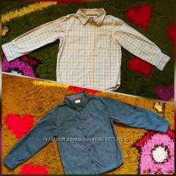 Хлопковые рубашки для мальчика 6-8 лет