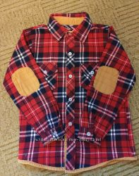 Теплая рубашка на мальчика 5-6 лет
