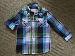 Модная рубашка на мальчика 7-8 лет