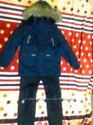 Зимние комбинезонные брюки REIMA на мальчика 140 р.