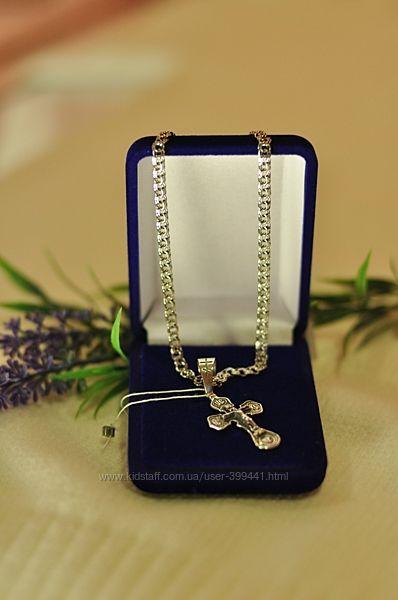 серебряные цепочки с крестиками