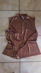 Шикарная летняя кофточка бронзового цвета размер L
