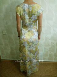 Платье эксклюзив желтое Новый год макси длинное