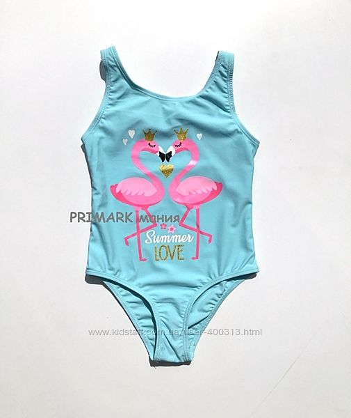 Совместный купальник для девочки фламинго 1.5 -8 лет primark