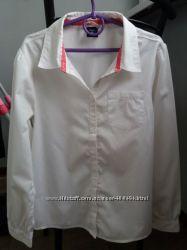 Белая рубашка фирмы  GAP.  Размер L10