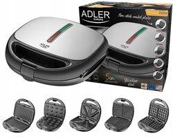 Сендвичница - вафельница - гриль 5 в 1 Adler AD 3040 1200Вт