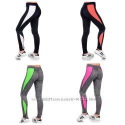 лосины женские для фитнеса разные цвета р. xs s m l