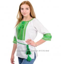 вышиванка блуза хлопок разные расцветки 8-16 лет рост 128-170 см