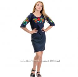 платье вышиванка для женщин в размерах 42, 44, 46, 48, 50, 52, 54, 56, 58, 60