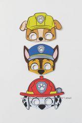 H&M. Набор из 3 масок Щенячий патруль.