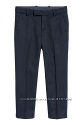 H&M. Школьные стильные темно синие брюки. Размеры