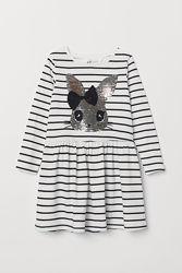 H&M. Платья с реверсивными паетками. Зайка и единорог
