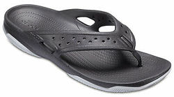 Crocs Mens Swiftwater Deck Flip. Шлепанцы оригинал. Размеры