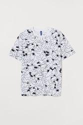 H&M. Стильная футболка Mickey Mouse. Размеры хс и с