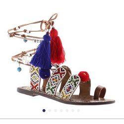 Sam Edelman Gem. Классные босоножки со шнуровкой и кисточками. Размер 36