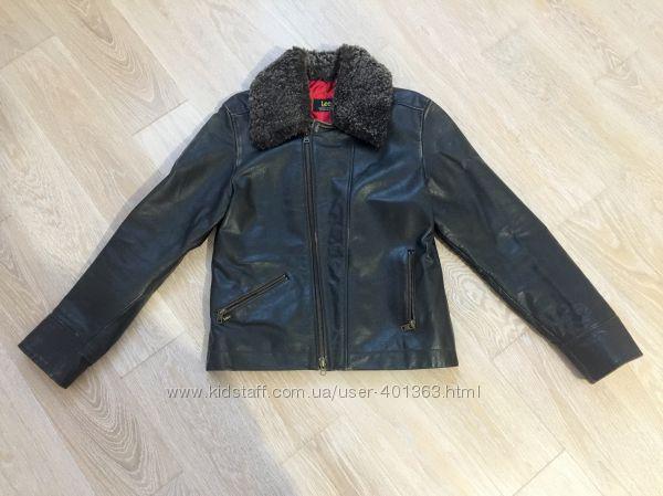Кожаная куртка Lee