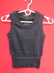трикотажные т. синие и черные жилетки для девочек  116 -152 Фабричный Китай
