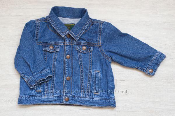 Джинсова куртка з підкладкою 6-12 міс.